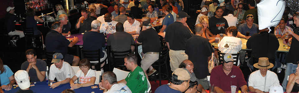 Texas Hold'em Poker League Tournament Packed With Poker Players